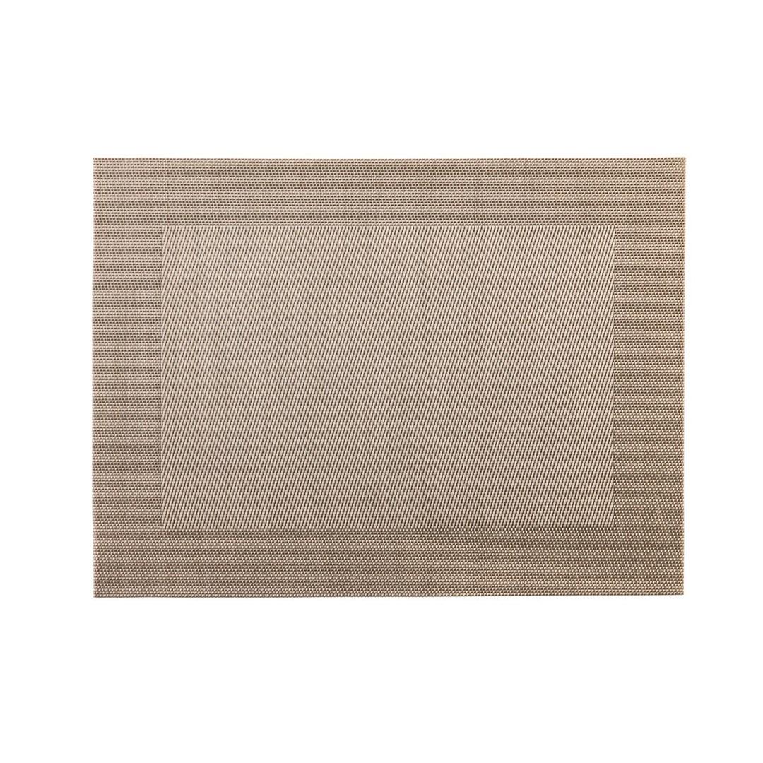 Productafbeelding Placemat rechthoekig Zilver/Koper 45 x 33 cm