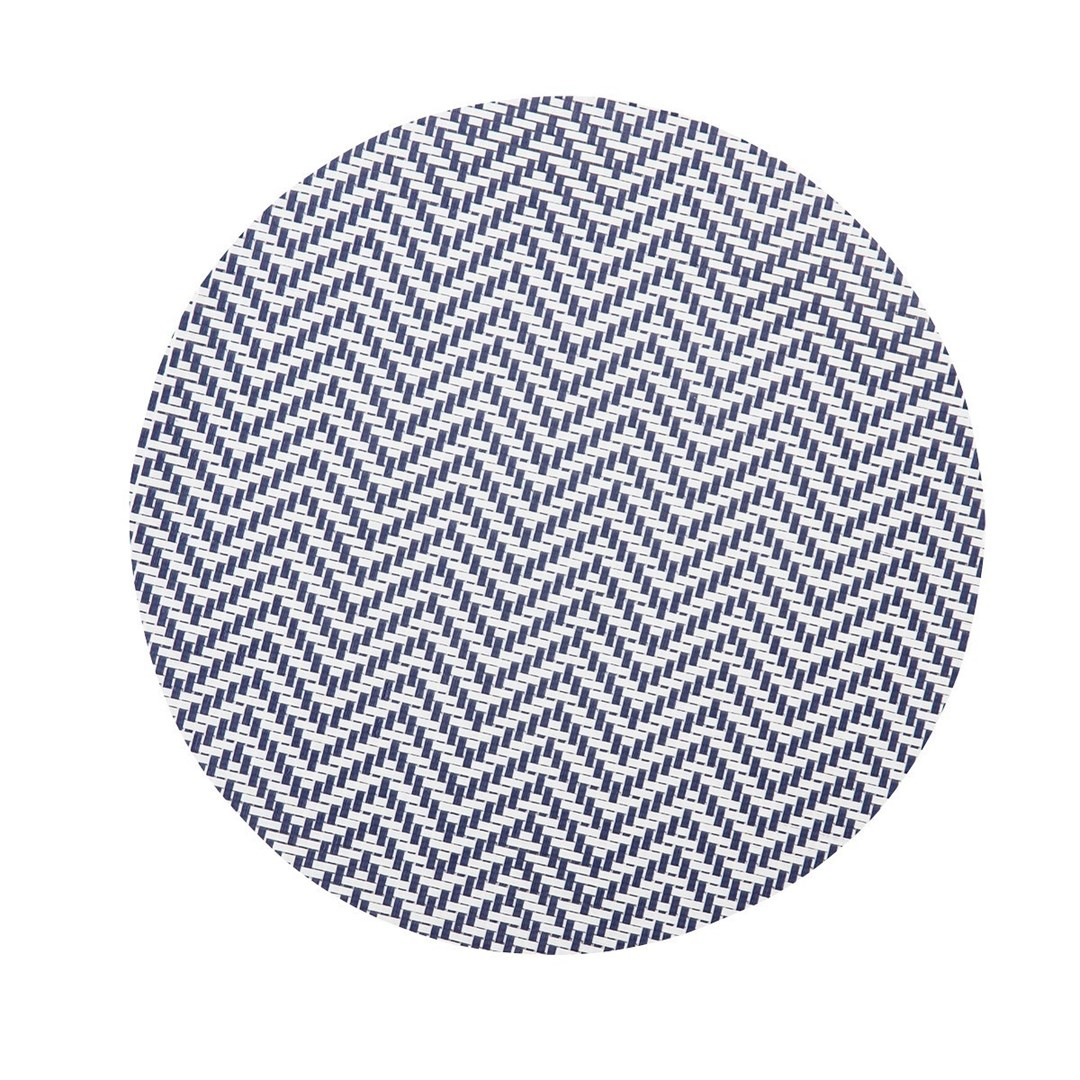 Productafbeelding Placemat rond Wit/Blauw 38 cm