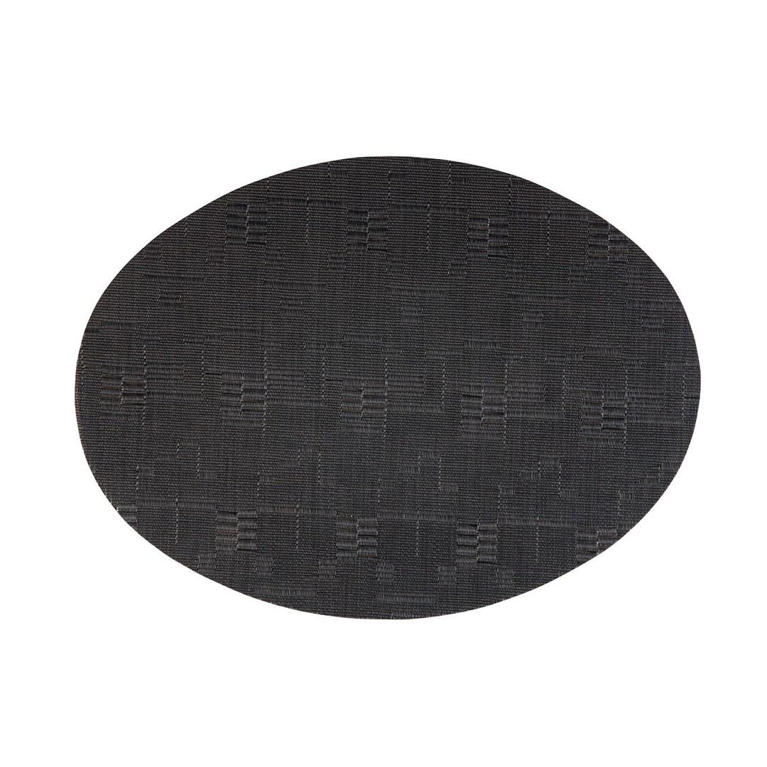 Productafbeelding Placemat ovaal Zwart 49 x 36 cm