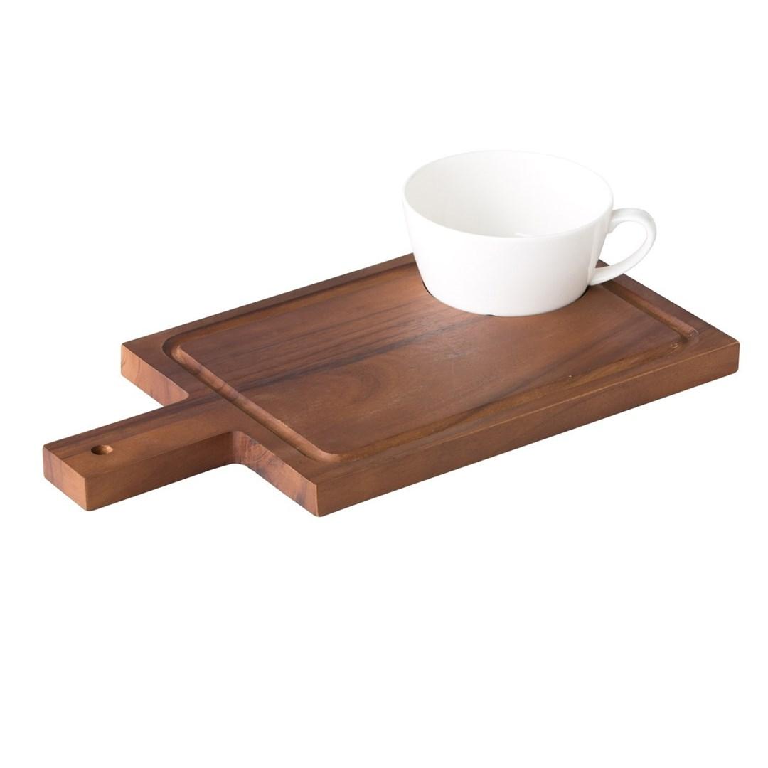 Productafbeelding Acacia plank met handvat incl inkeping voor kom