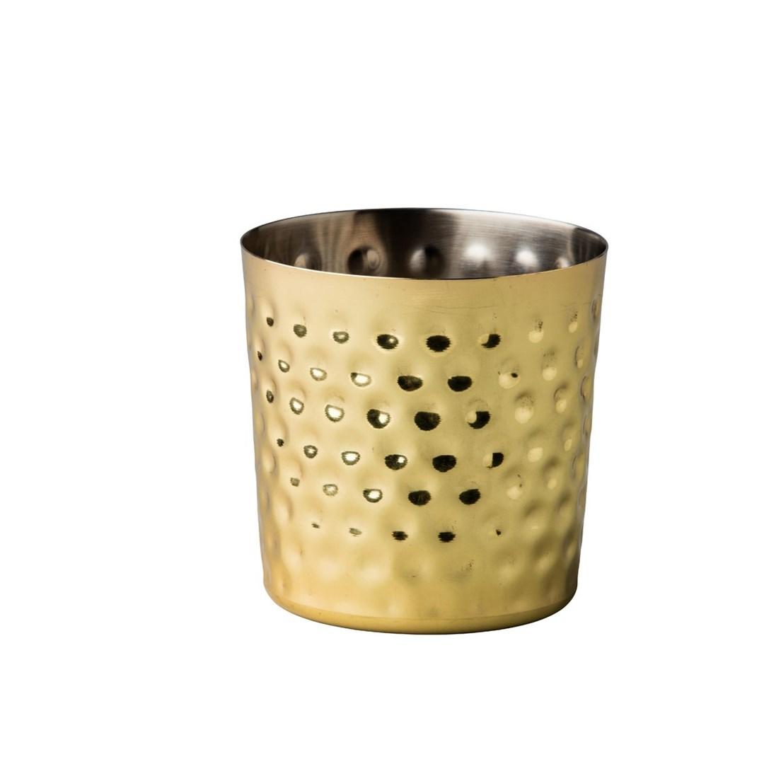 Productafbeelding Elements RVS bakje goud recht gehamerd