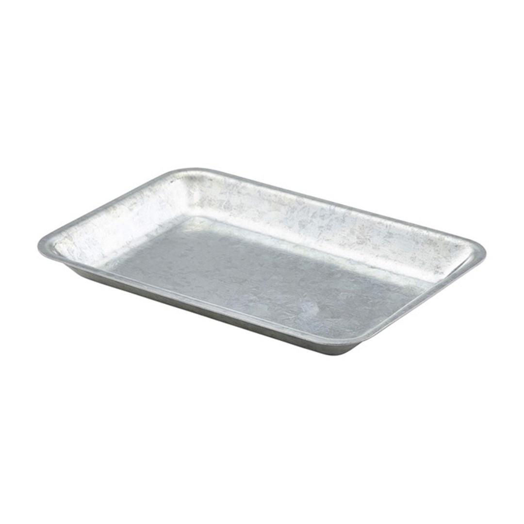 Productafbeelding Gegalvanis. stalen serveerschaal rechth. 20 x 14cm