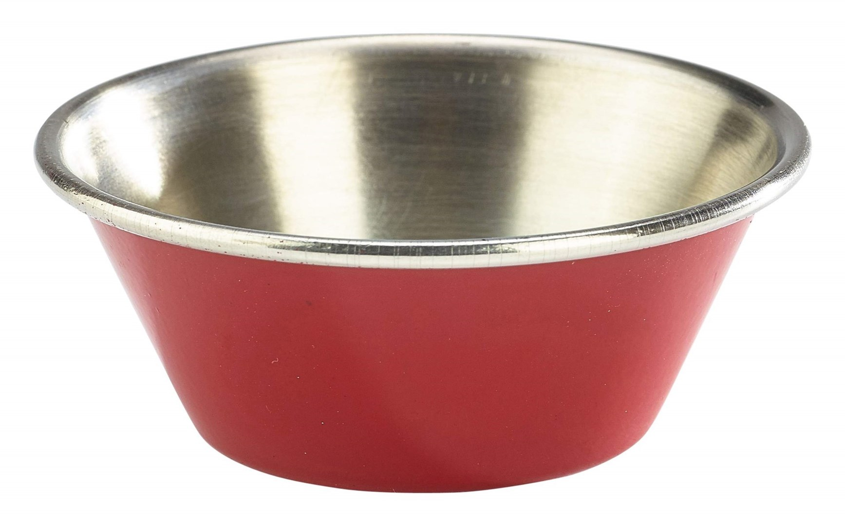 Productafbeelding RVS ramekin glad rood 43 ml