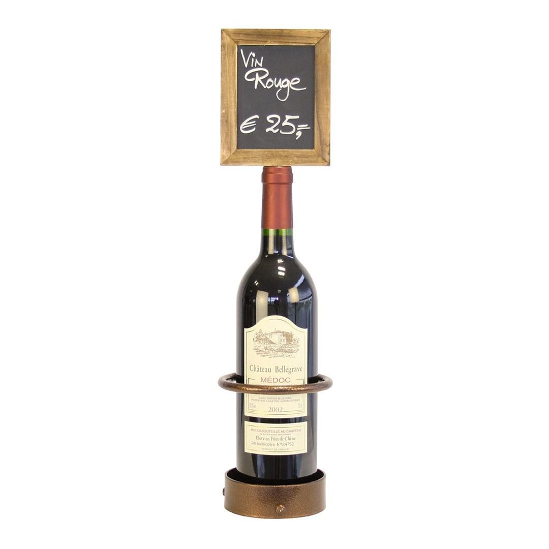 Productafbeelding Wijnfleshouder incl krijtbord 11 x 45 cm