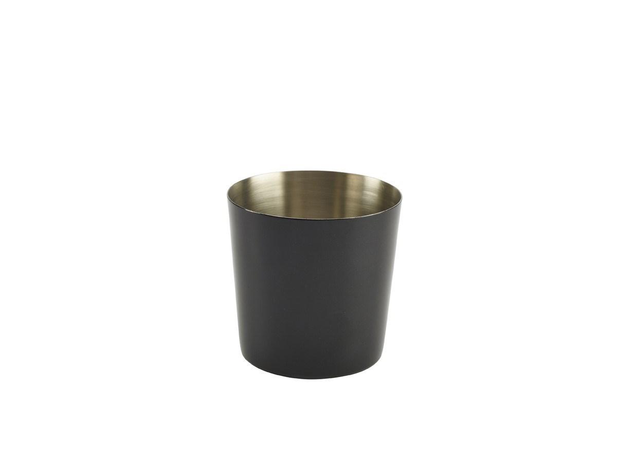 Productafbeelding RVS friet presentatiebakje zwart glad 8,5 cm