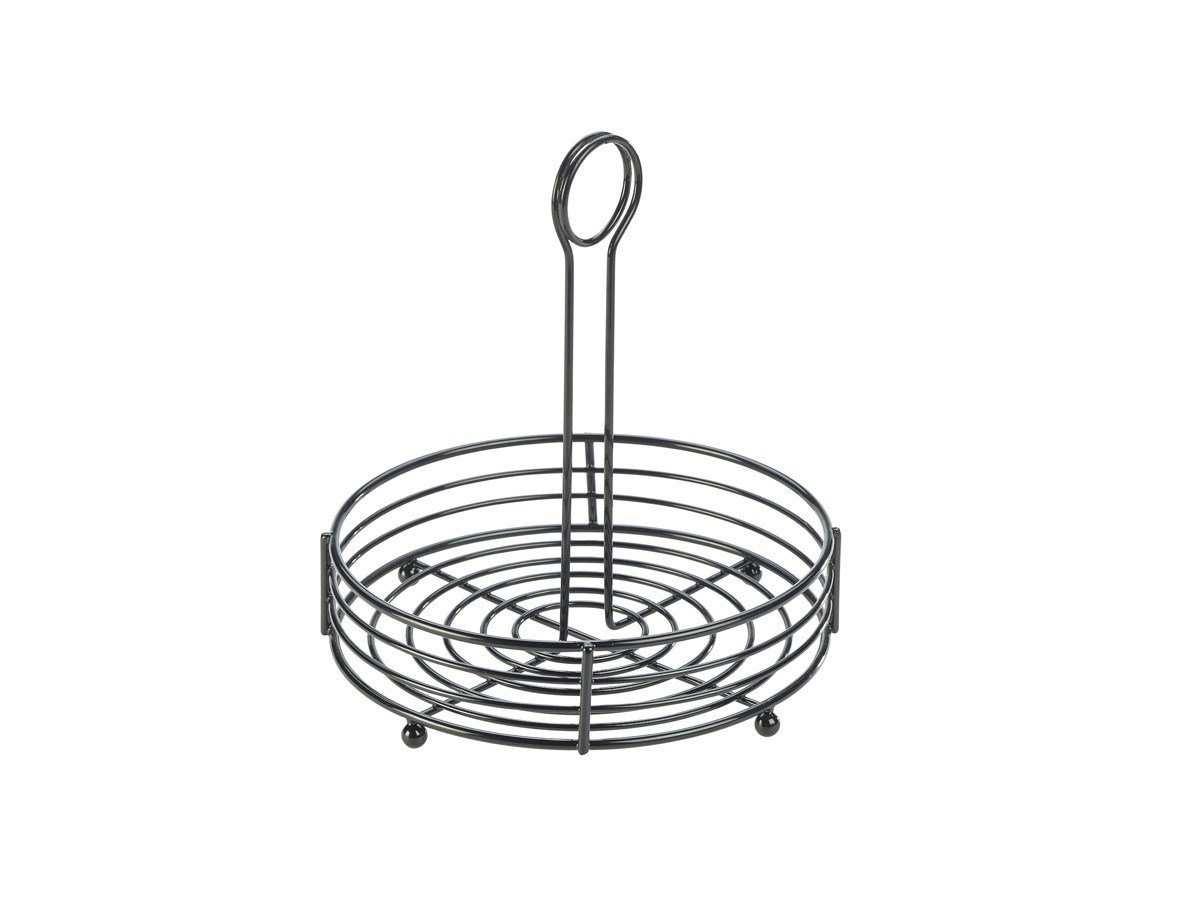 Productafbeelding Tafelcaddy draagbaar zwart rond 20 x 21,5 cm