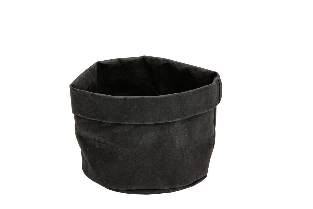 Productafbeelding Broodmand papier wasbaar zwart 13 x 13 x 15