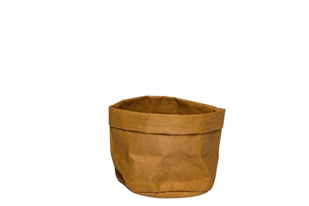 Productafbeelding Broodmand papier wasbaar bruin 13 x 13 x 15