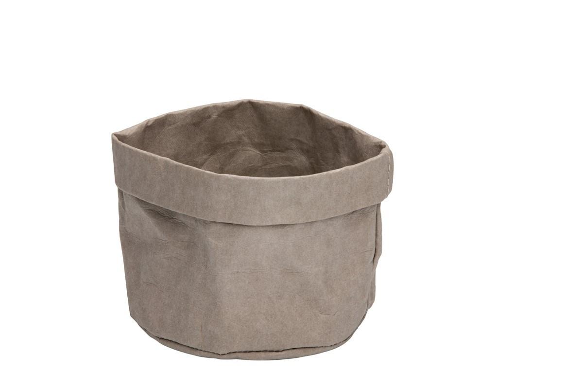 Productafbeelding Broodmand papier wasbaar grijs 13 x 13 x 15