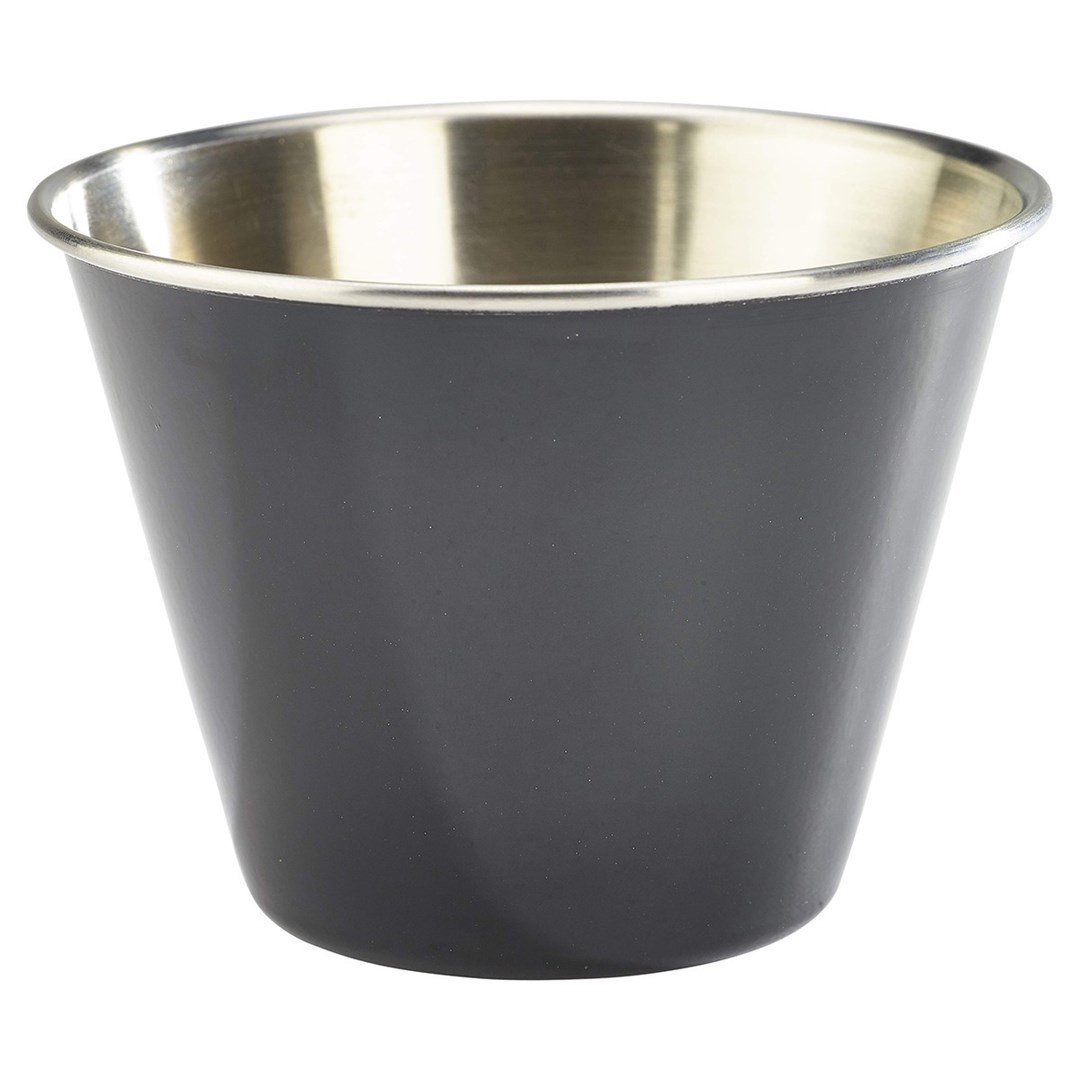 Productafbeelding RVS ramekin glad zwart 340 ml