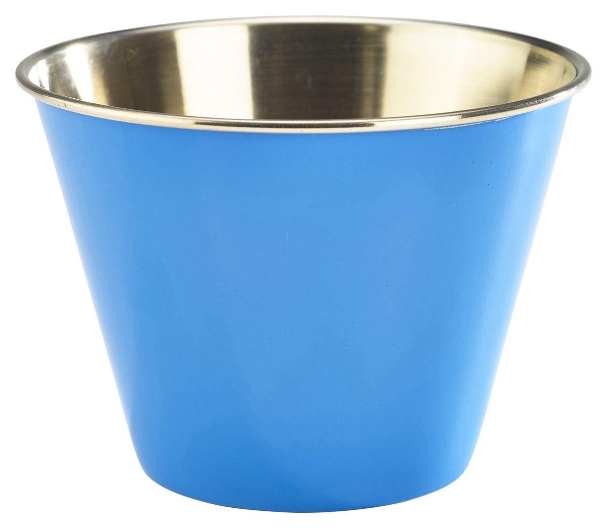Productafbeelding RVS ramekin glad blauw 340 ml
