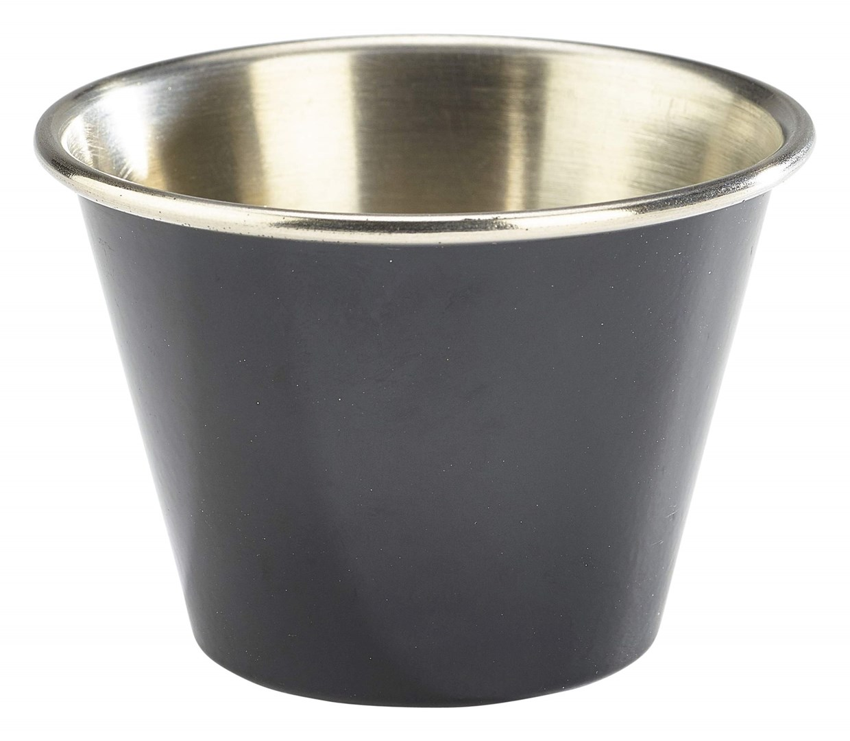 Productafbeelding RVS ramekin glad zwart 71 ml
