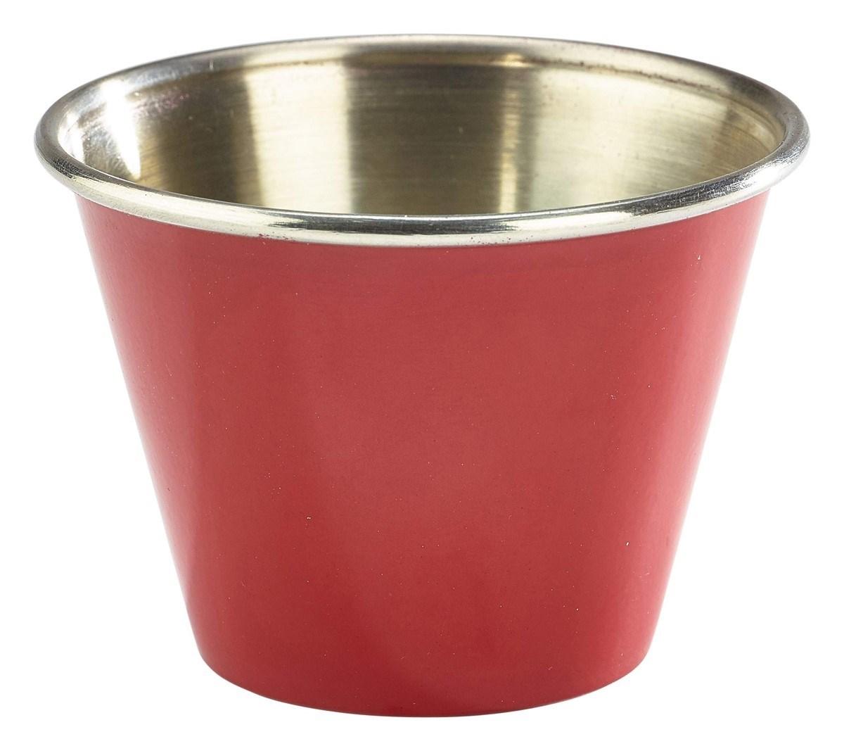 Productafbeelding RVS ramekin glad rood 71 ml