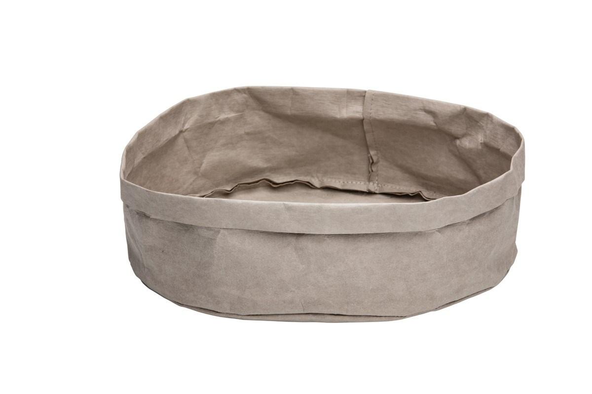 Productafbeelding Broodmand papier wasbaar grijs 27 x 27 x 12