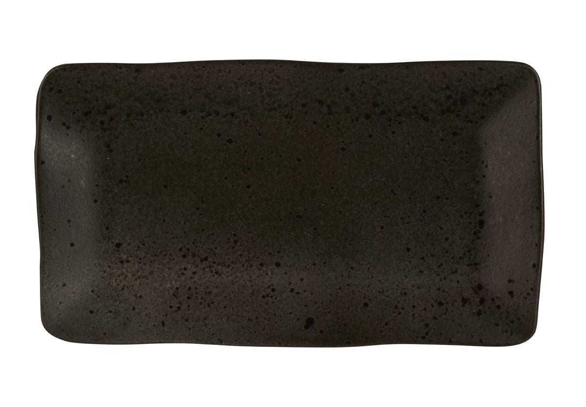 Productafbeelding Q Authentic Stone Black rechthoekig bord 27,5 x 15,5 cm