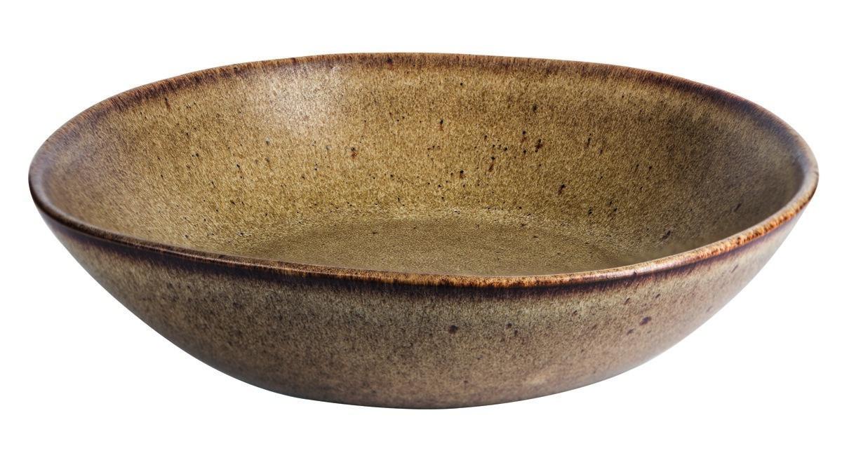 Productafbeelding Q Authentic Stone Brown pasta/soep bord 22 cm