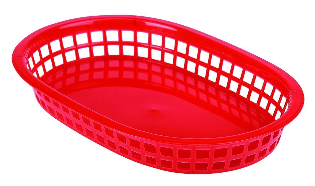 Productafbeelding Fastfood mandje rood 27,5 x 17,5 cm