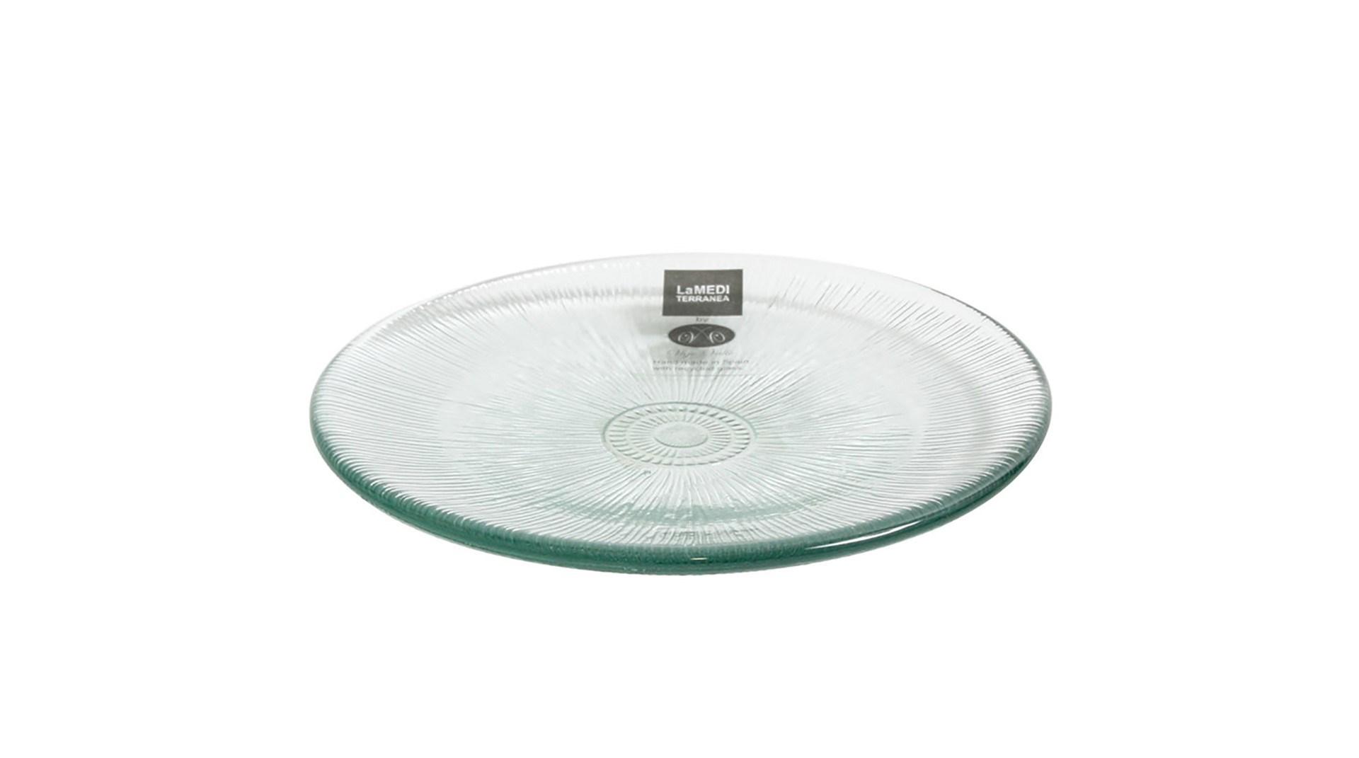 Productafbeelding Glazen bord met reliëf 13 cm