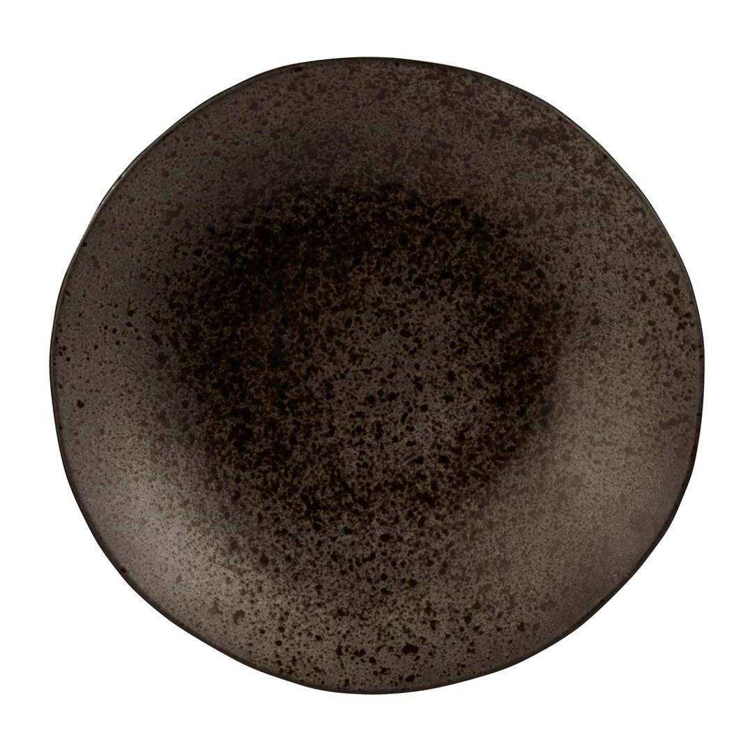 Productafbeelding Q Authentic Stone Black coupebord diep 26,5 cm