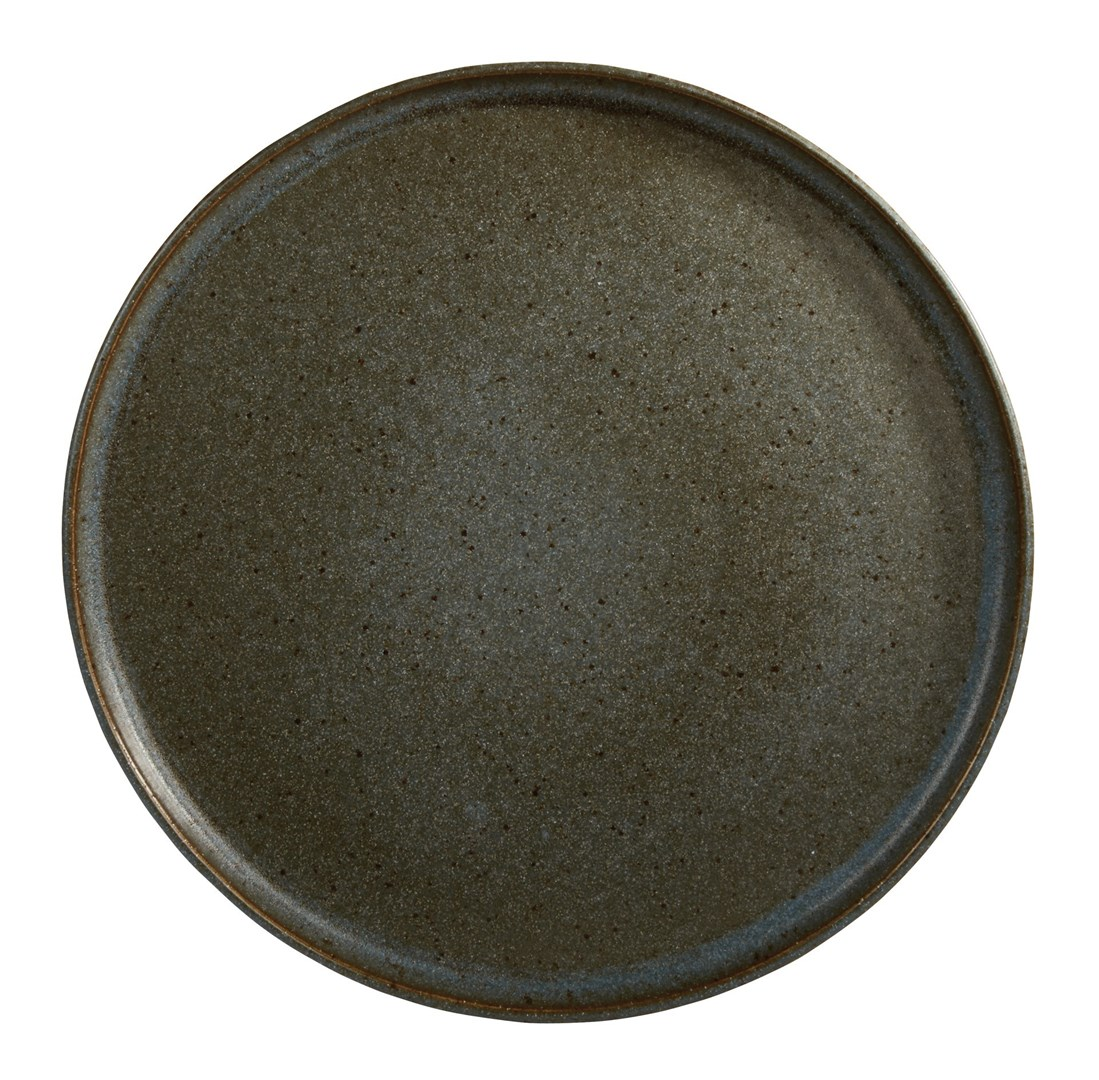 Productafbeelding Q Authentic Stone Green bord met opstaande rand 26,5 cm