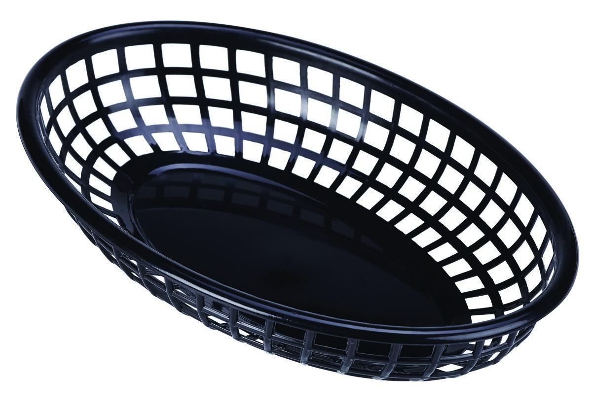 Productafbeelding Fastfood mandje zwart 23,5 x 15,4 cm