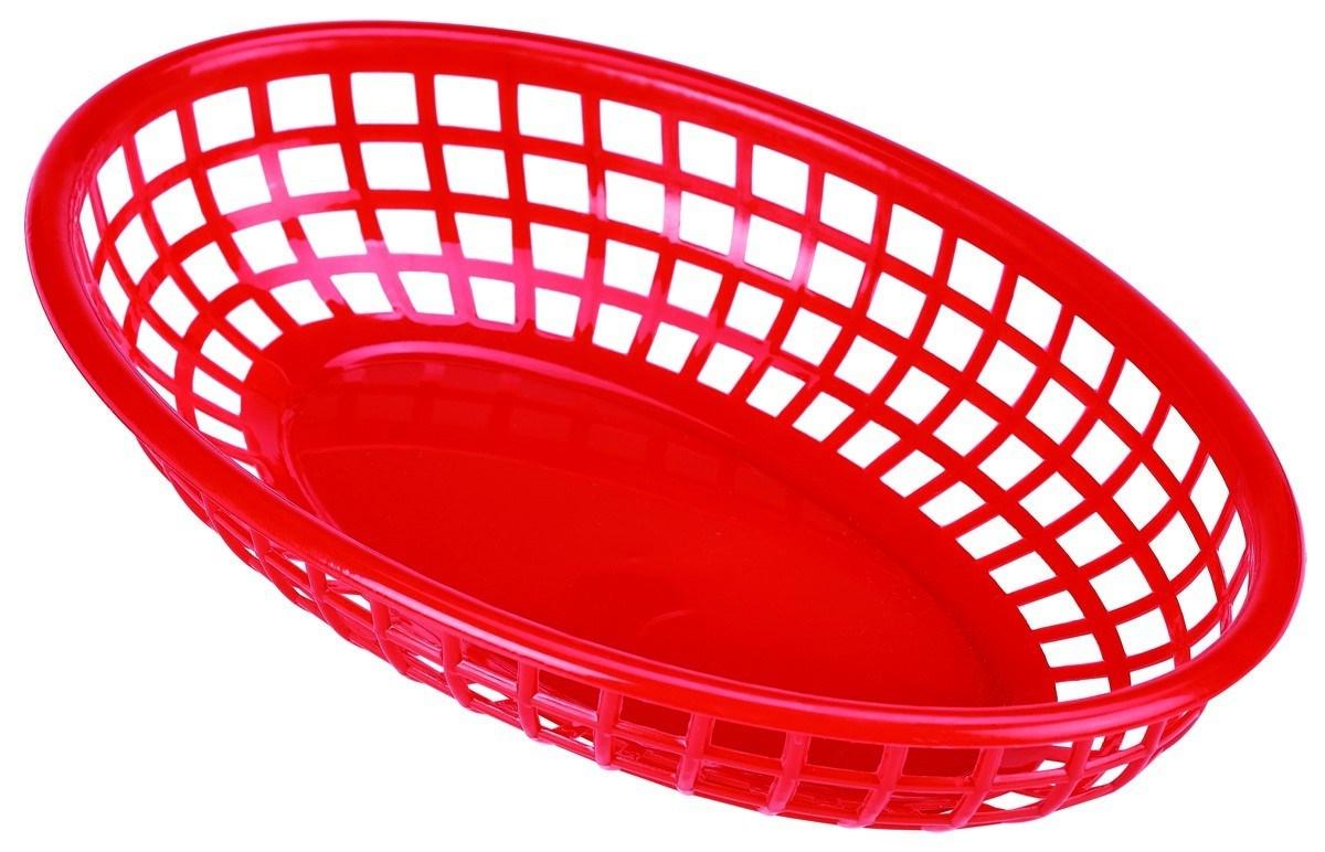 Productafbeelding Fastfood mandje rood 23,5 x 15,4 cm