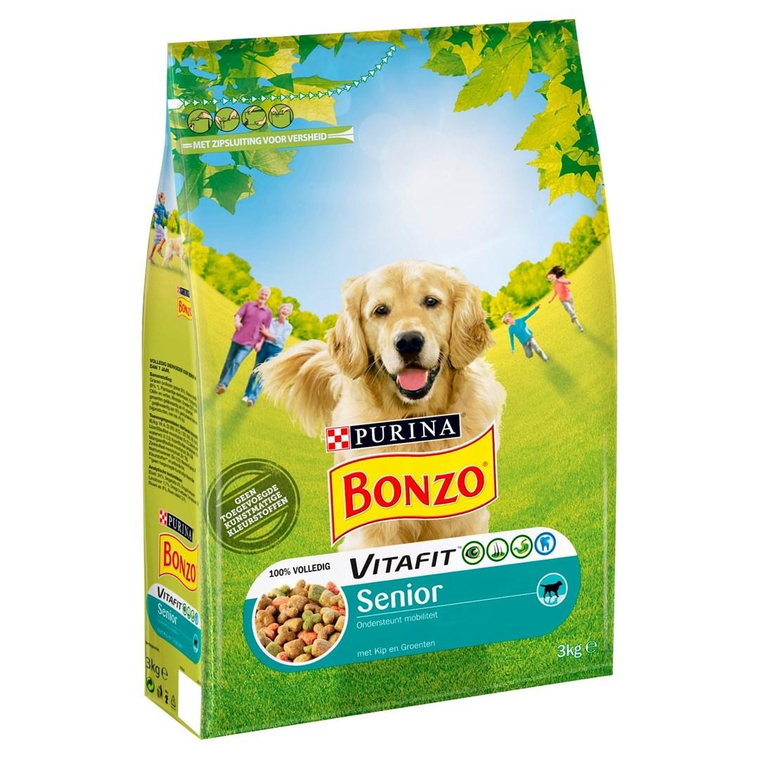 Productafbeelding PURINA BONZO SENIOR Droog hondenvoer Kip/Groenten 3kg Stazak
