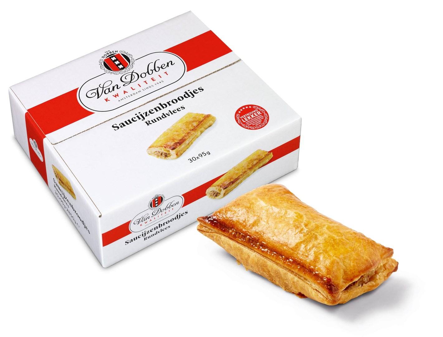 Productafbeelding Van Dobben Saucijzenbroodje 30 x 95 gram