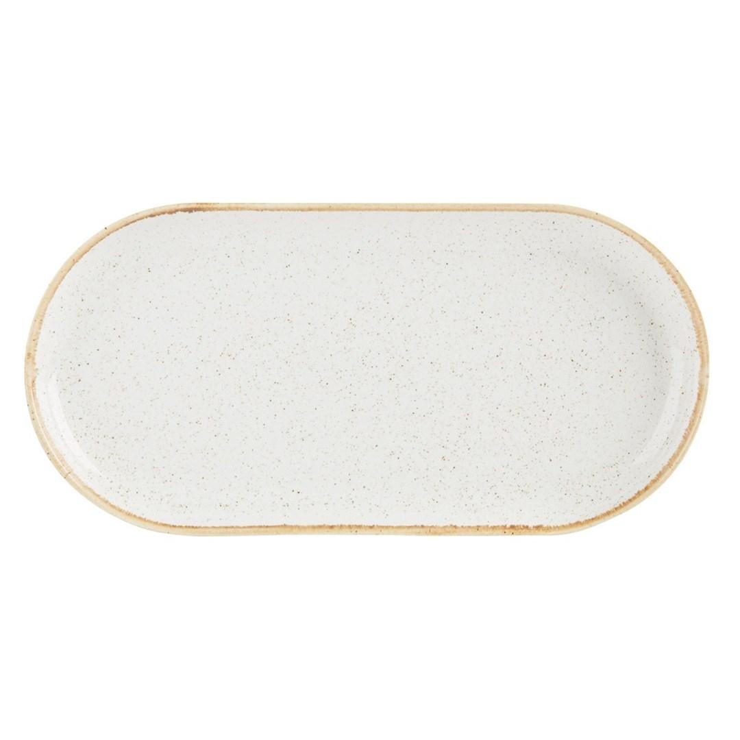 Productafbeelding Smal ovaal bord Oatmeal 30 cm