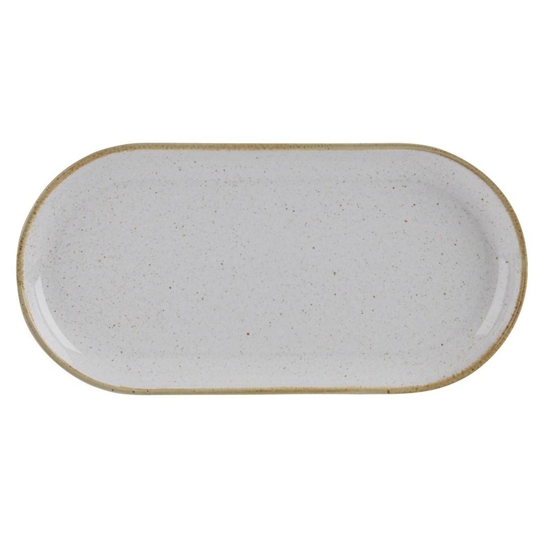 Productafbeelding Smal ovaal bord Stone 30 cm