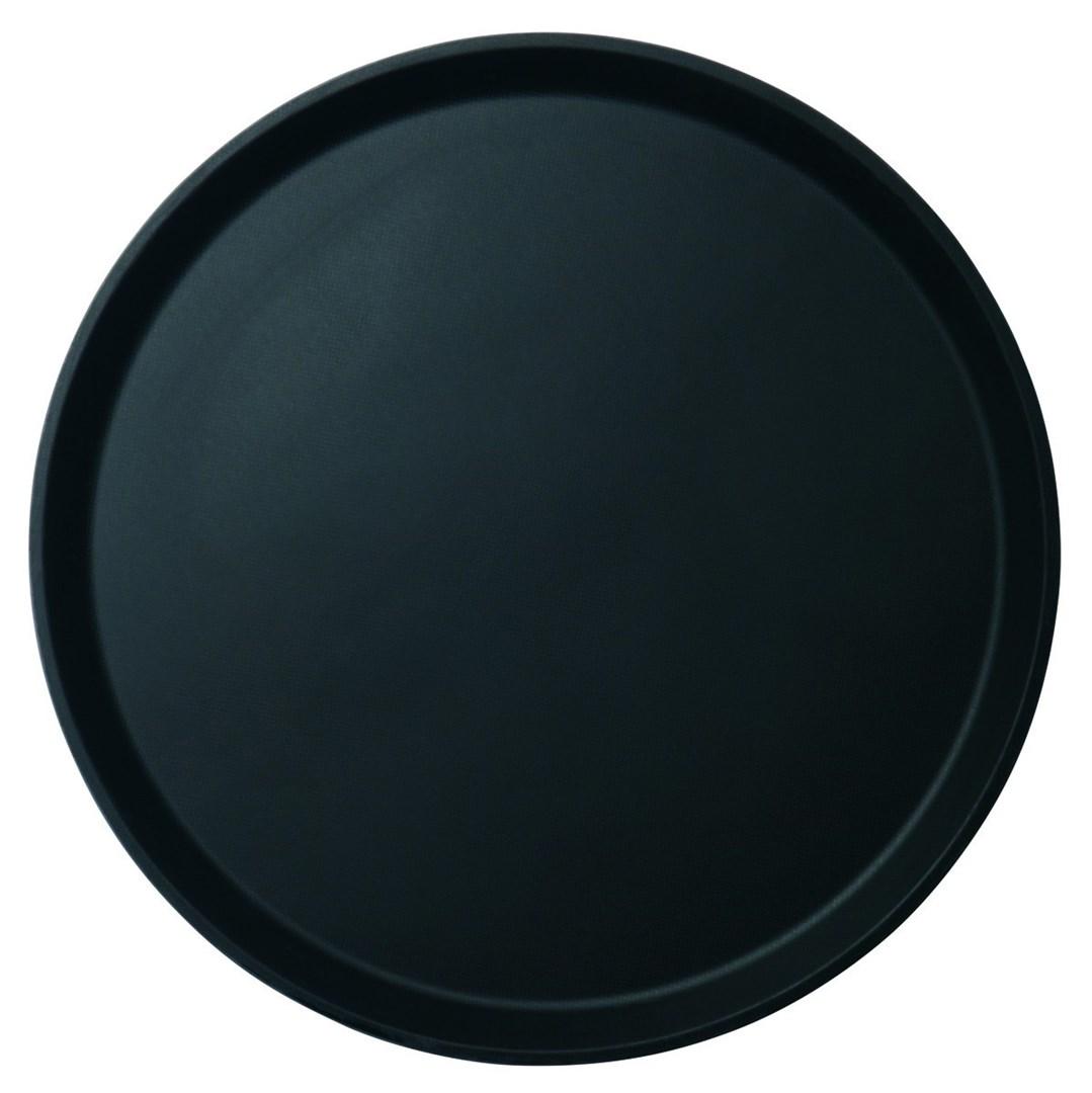 Productafbeelding Cambro rond dienblad anti-slip zwart 40,5 cm