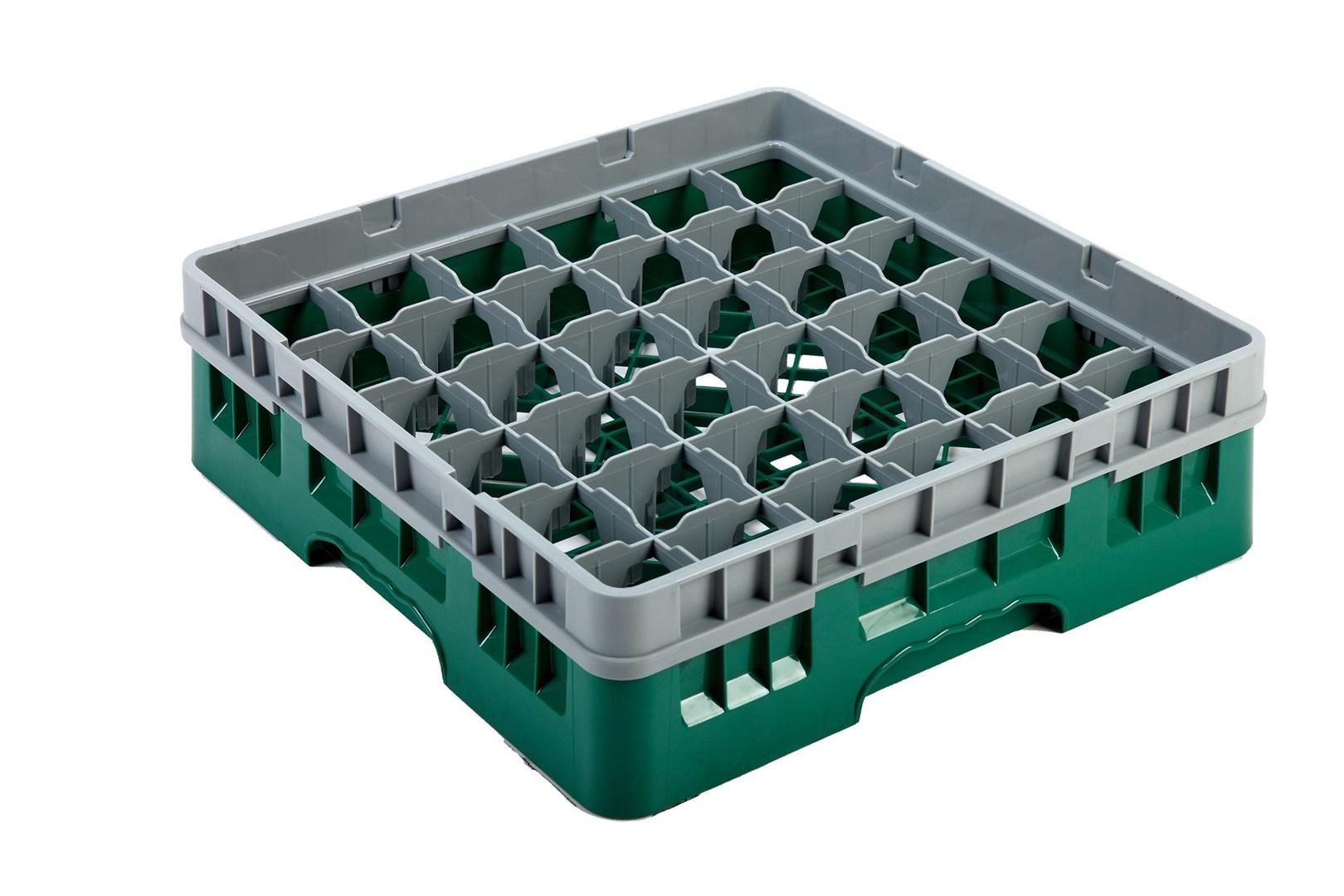 Productafbeelding Vaatwaskorf groen 36 compartimenten max Ø7.2 cm