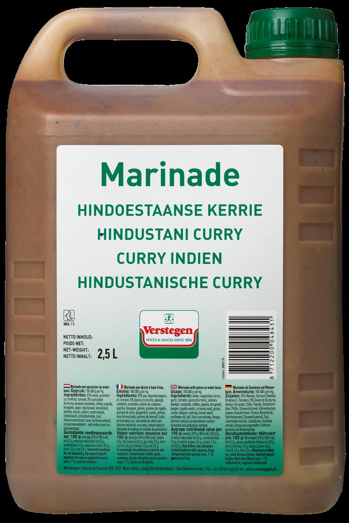 Productafbeelding Verstegen Hindoestaanse kerriemarinade PURE 2,5L kan