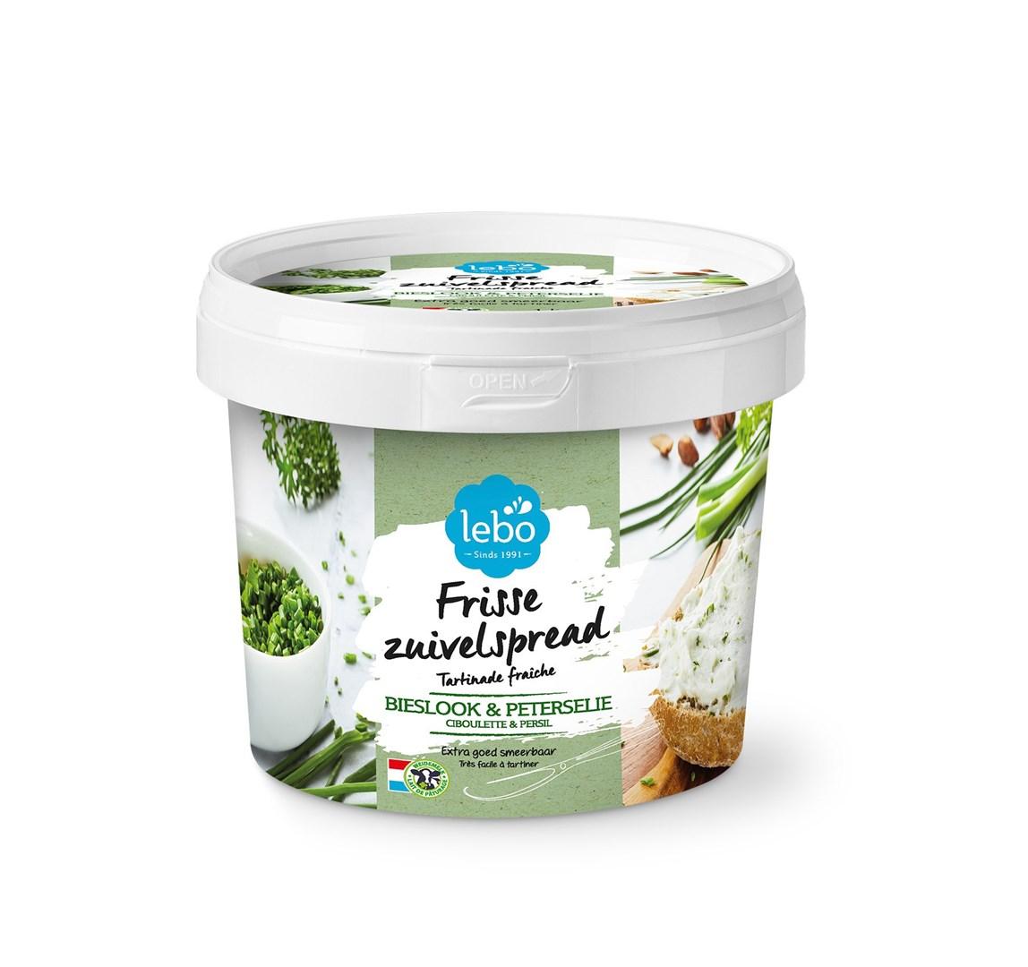 Productafbeelding LEBO Frisse zuivelspread bieslook en peterselie 1kg