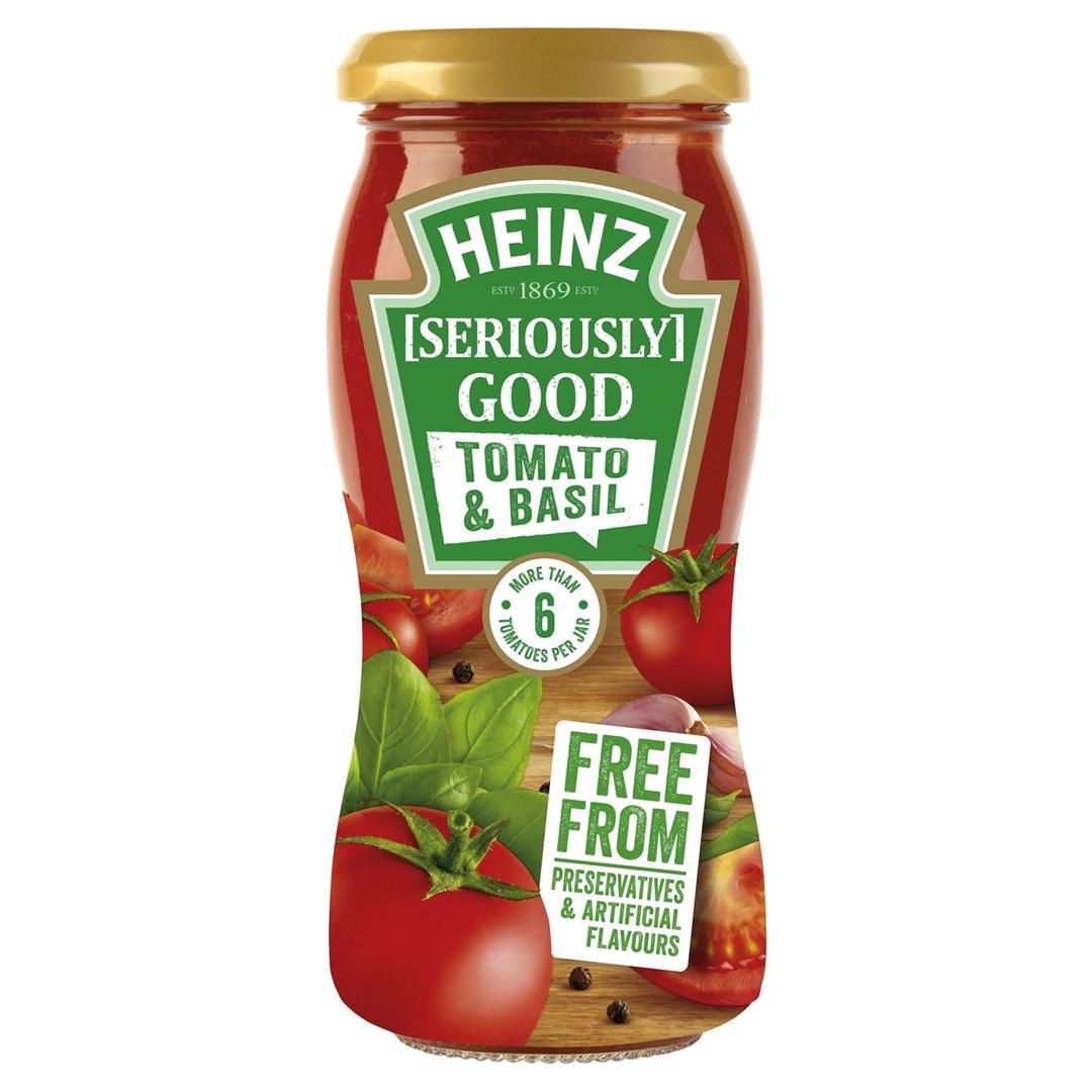 Productafbeelding Heinz Tomatensaus Tomato & Basil 240 g Bus