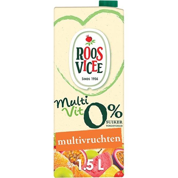 Productafbeelding Roosvicee Fruitdrink Multivit Multivruchten 1.5 l Pak