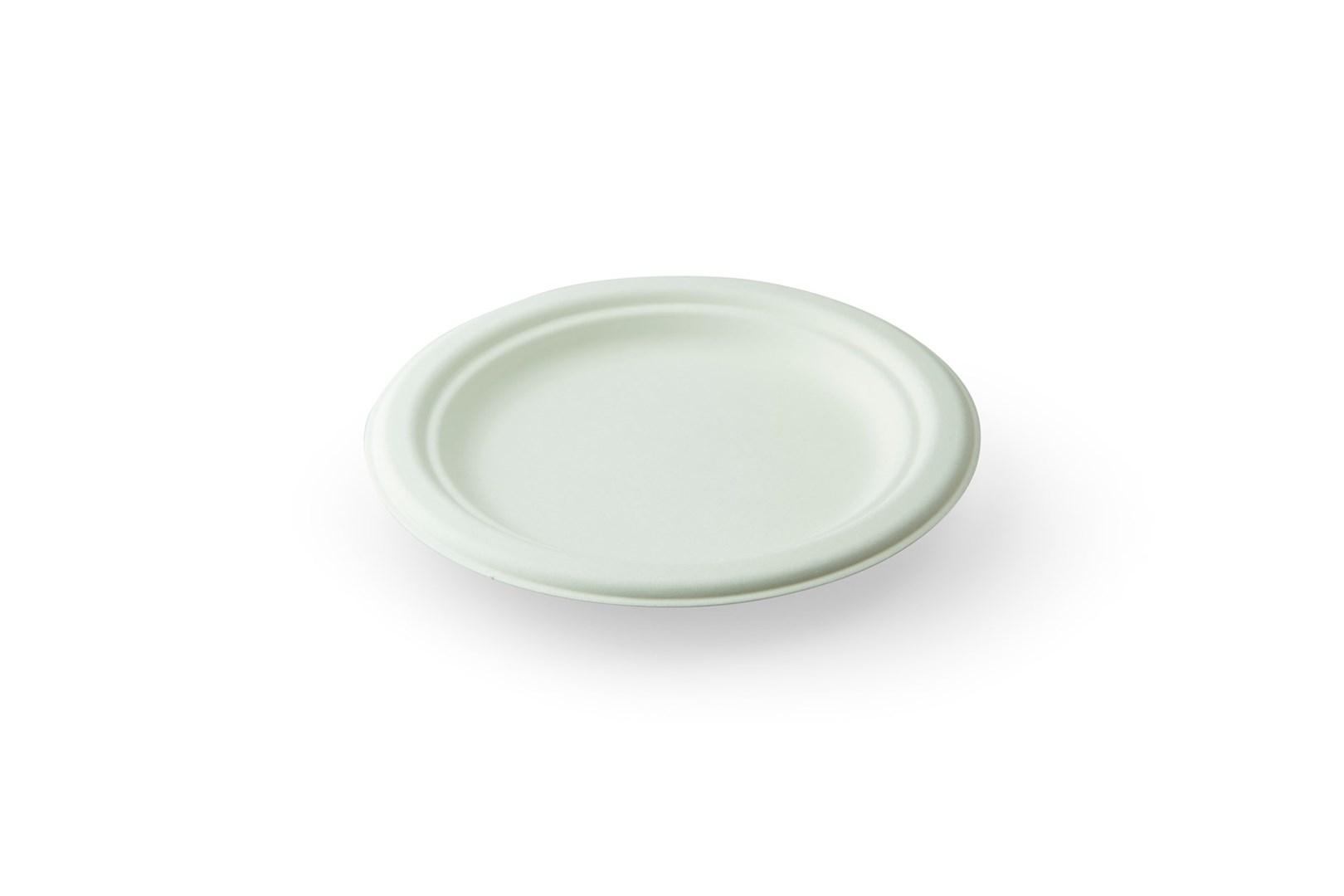 Productafbeelding Sier Disposables Mondial suikerriet bord rond ø175 x h15,8mm krimp à 40