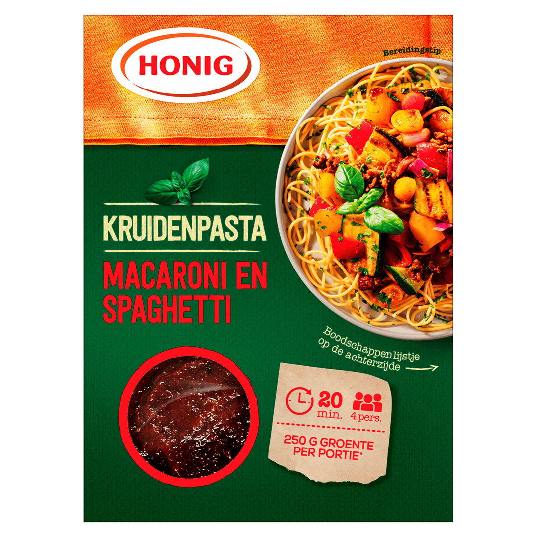 Productafbeelding Honig Kruidenpasta Macaroni en Spaghetti 80 g Doos