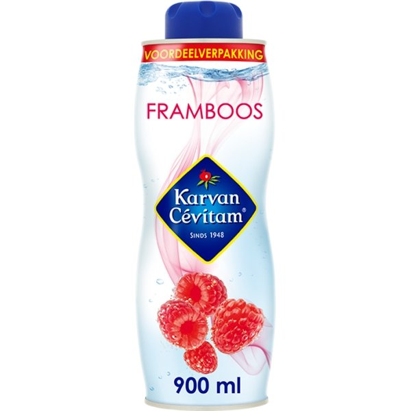 Productafbeelding Karvan Cévitam Vruchtenlimonadesiroop Framboos 900 ml Blik