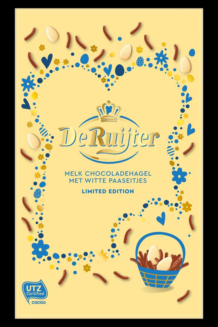 Productafbeelding De Ruijter Mix Melk Chocoladehagel met Witte Paaseitjes 380 g Doos