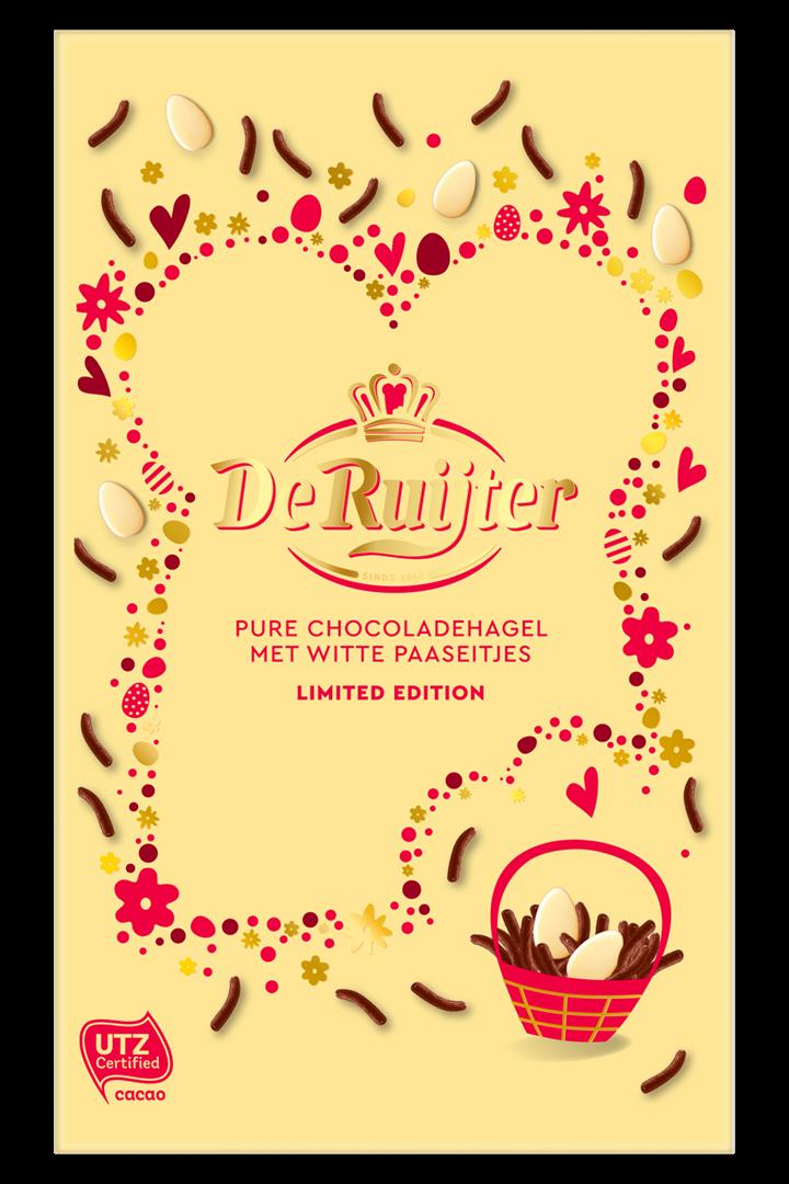 Productafbeelding De Ruijter Mix Pure Chocoladehagel met Witte Paaseitjes 380 g Doos