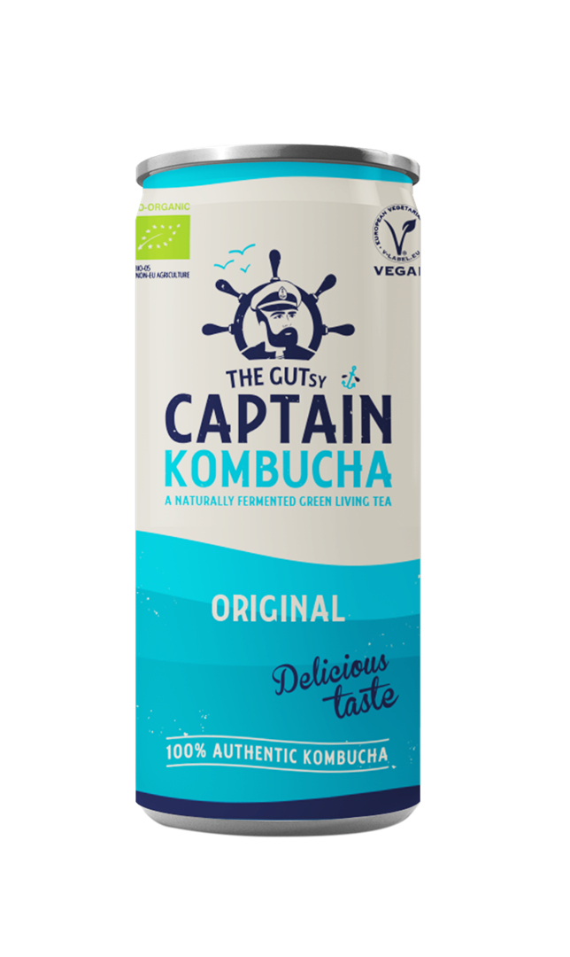 Productafbeelding The Gutsy Captain Kombucha Original 250ml