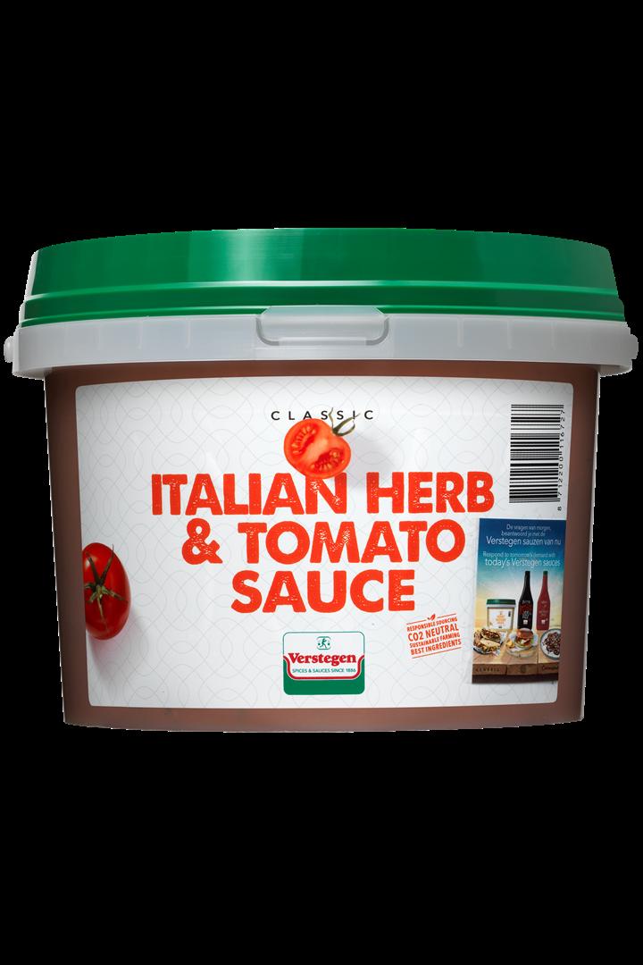 Productafbeelding Verstegen Pure Italiaanse kruiden en tomatensaus  2700 g emmer