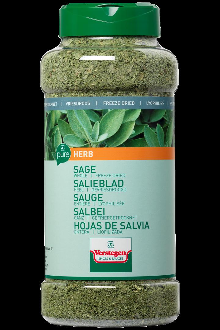 Productafbeelding Verstegen  salieblad heel gevriesdroogd 55 g pot