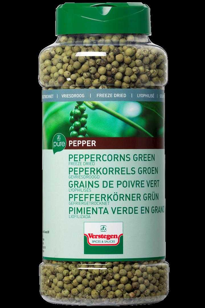 Productafbeelding Verstegen  peperkorrels groen gevriesdroogd 140 g pot