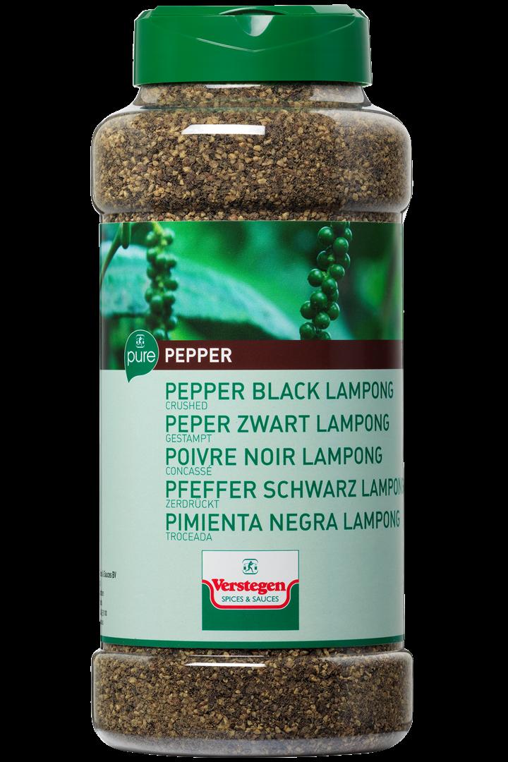 Productafbeelding Verstegen Pure peper zwart lampong gestampt 575 g pot