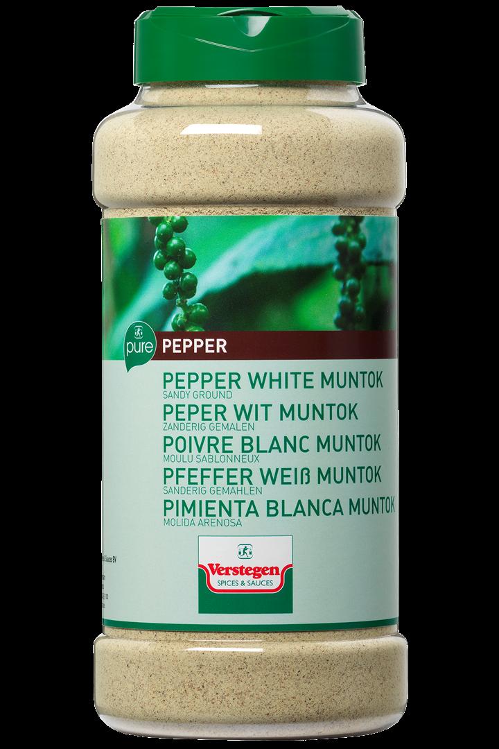 Productafbeelding Verstegen Pure peper wit muntok zanderig gemalen 530 g pot