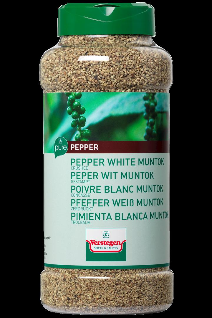Productafbeelding Verstegen Pure peper wit muntok gestampt 625 g pot