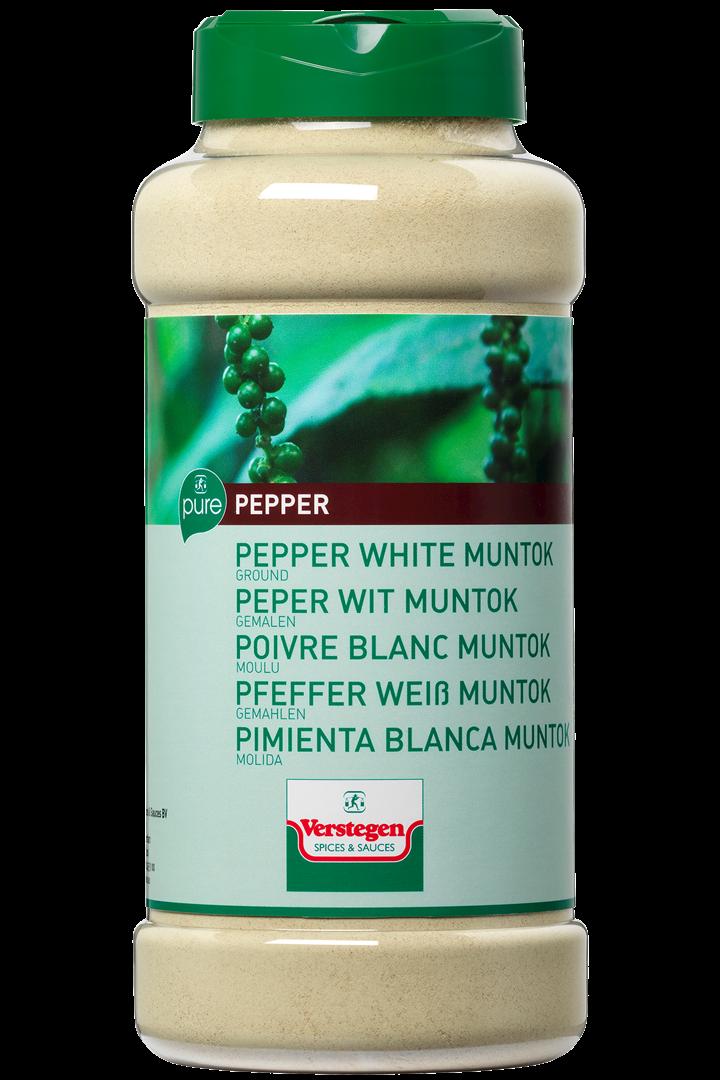 Productafbeelding Verstegen Pure peper wit muntok gemalen 500 g pot