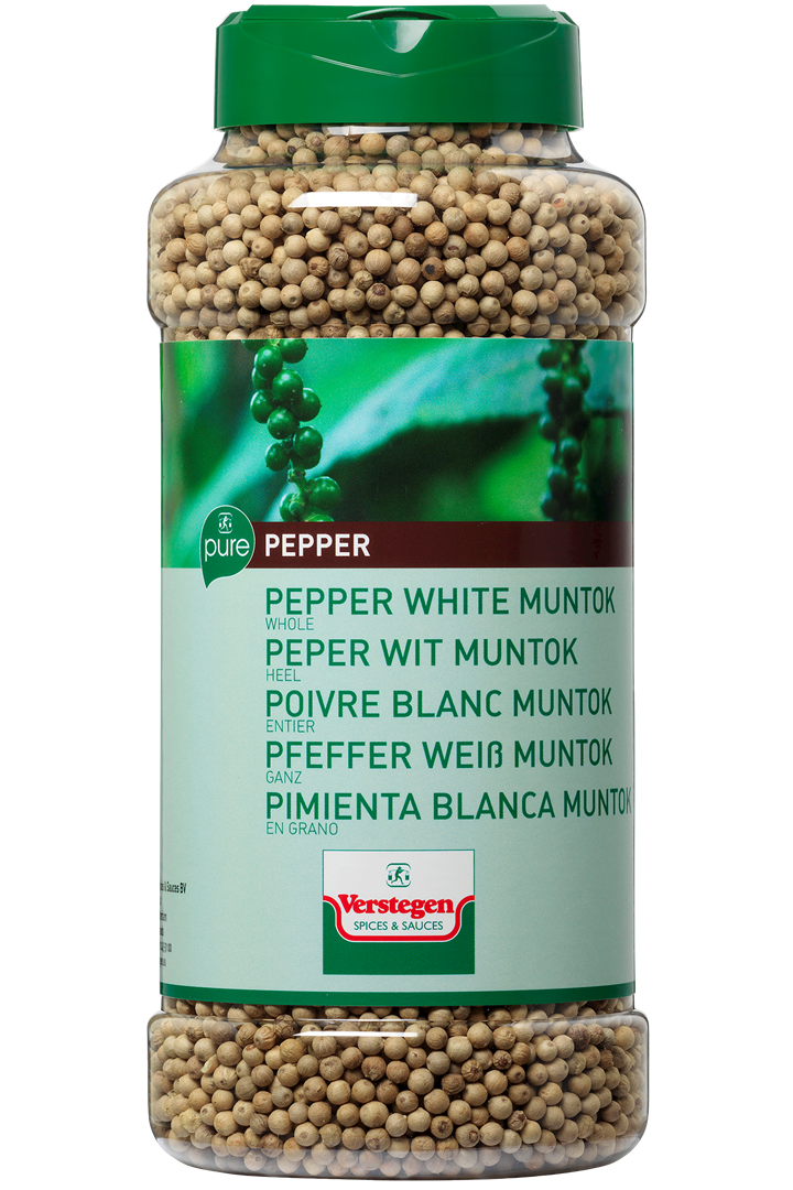 Productafbeelding Verstegen Pure peper wit muntok heel 660 g pot